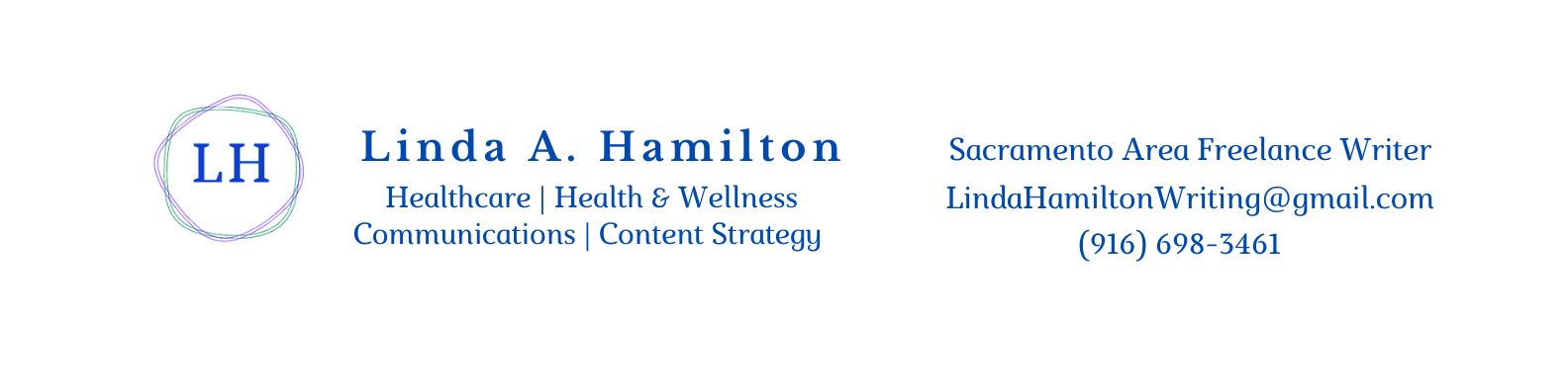 Sacramento-based freelance writer and content strategist, ghostwriter for health and wellness, business, communications